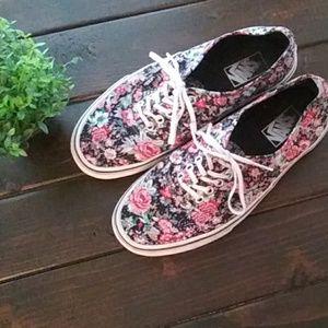 VANS Floral Canvas Sneaker Size 9.5